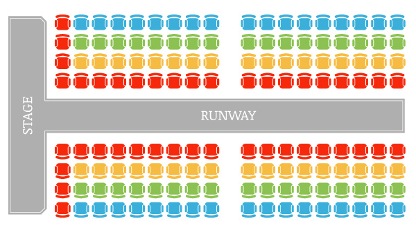 Seating Arrangement by Colors